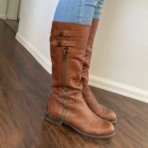 Leather boots women size 9